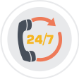 24*7 Email And Chat Support Availability